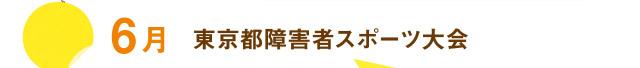 6月 東京都障害者スポーツ大会