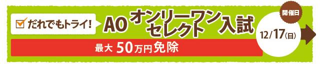 AOオンリーワンセレクト入試